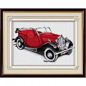 Набор для рисования камнями Dream Art.  30026 Ретро автомобиль(красный)