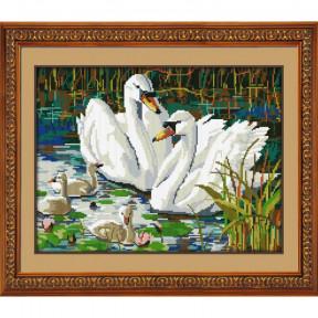 Набор для рисования камнями Dream Art.  30088D Лебединая семья