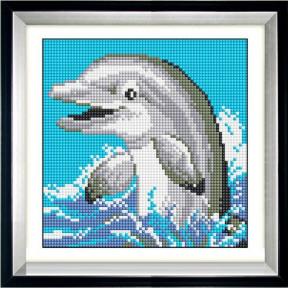 Набор для рисования камнями Dream Art. 30065 Дельфинчик