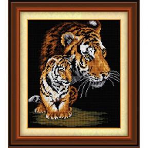 Набор для рисования камнями Dream Art.  30044 Тигрица и тигренок