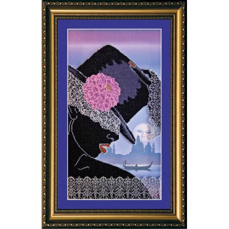 Набор для вышивания бисером Абрис Арт АВ-143 Кружева фото