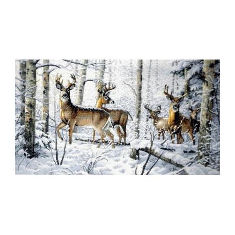 Набор для вышивки крестом Dimensions 35130 Woodland Winter фото