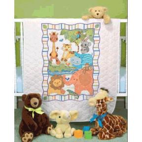 Набор для вышивания одеяла Dimensions 73507 ModZoo Quilt фото