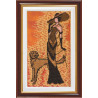 Набор для вышивания бисером Абрис Арт АВ-115 Дама с собачкой