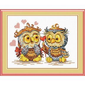 Набор для вышивки крестом МП Студия М-087 Окрыленные любовью