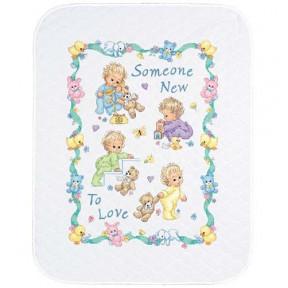 Набор для вышивания одеяла Dimensions 72963 Someone New Baby