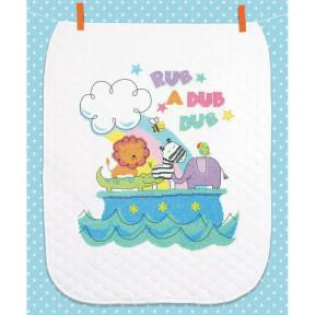 Набор для вышивания одеяла Dimensions 70-74368 Rub-a-Dub Quilt