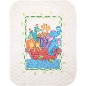 Набор для вышивания одеяла Dimensions 73125 Noah's Ark Quilt