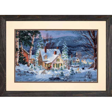 Набор для вышивки Dimensions 70-08862 Winter's Hush фото