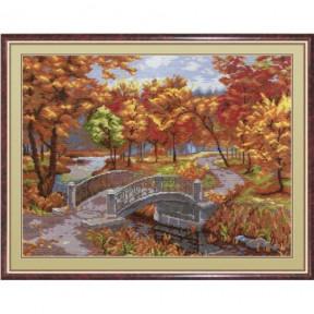 Набор для вышивки крестом МП Студия НВ-266 Осенний парк