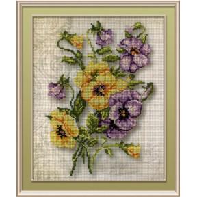 Набор для вышивки крестом МП Студия РК-319 Цветы Анютины глазки