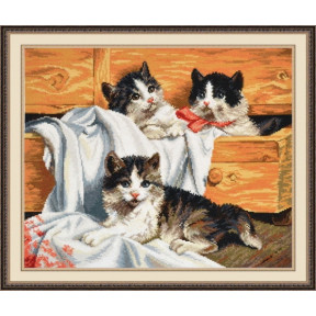 Набор для вышивки крестом Овен 674 Котята