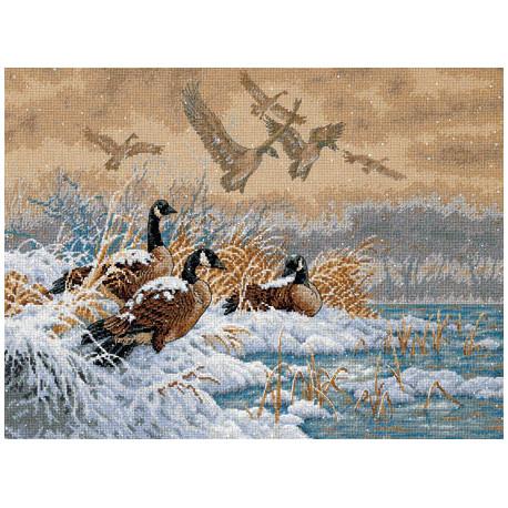 Набор для вышивки крестом Dimensions 35205 Winter Retreat фото