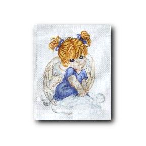 Набор для вышивки крестом Alisena 1002а Ангелочек в голубом