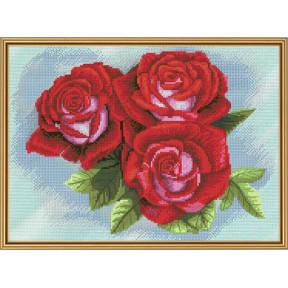Набор для вышивания крестом Нова Слобода СР-4209 Красная роза