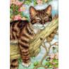 Набор для вышивки крестом Dimensions 65090 Napping Kitten фото