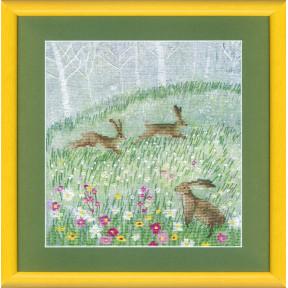 Набор для вышивки крестом Чарівна Мить М-237 Летние зайцы