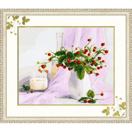 Набор для вышивки Золотое Руно СЖ-016 Розовый натюрморт фото