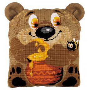 """Набор для вышивки крестом Риолис 1590 Подушка """"Медвежонок"""" фото"""
