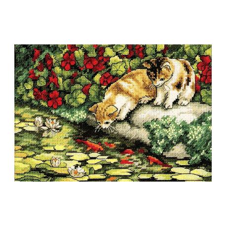 Набор для вышивки крестом Dimensions 65071 Kitten Reflections