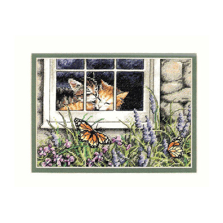 Набор для вышивки крестом Dimensions 65051 Feline Love Cats фото