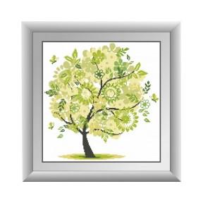 Набор для рисования камнями алмазная живопись Dream Art Весеннее дерево (квадратные, полная) 30313D