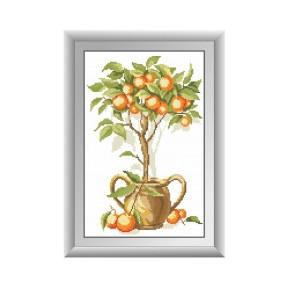 Набор для рисования камнями алмазная живопись Dream Art Апельсиновое дерево (квадратные, полная) 30274D
