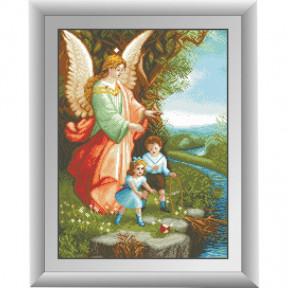 Набор для рисования камнями алмазная живопись Dream Art Ангел Хранитель (квадратные, полная) 30300D
