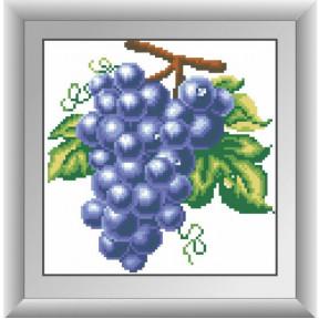 Набор для рисования камнями алмазная живопись Dream Art Виноград (квадратные, полная) 30266D