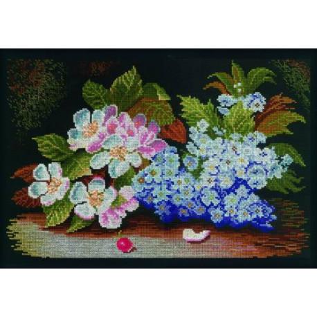 Набор для вышивки RTO M231 Цветы яблони и сирени фото