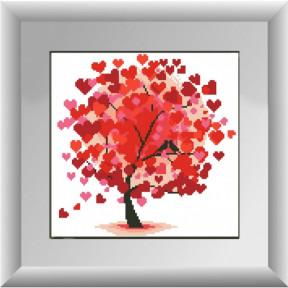 Набор для рисования камнями алмазная живопись Dream Art Дерево любви (квадратные, полная) 30256D