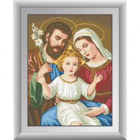 Набор для рисования камнями алмазная живопись Dream Art Святое семейство (квадратные, полная) 30298D