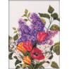 Набор для вышивки RTO M205 Сирень и тюльпаны фото