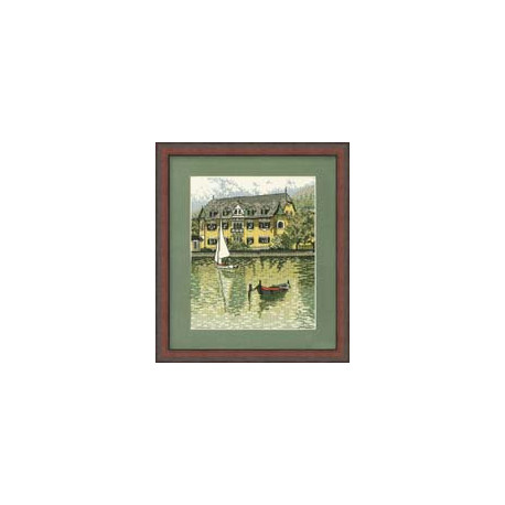 Набор для вышивки крестом RTO R145 Дом у реки фото