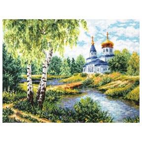 Набор для вышивки крестом Чудесная игла 43-10 Дорога к храму