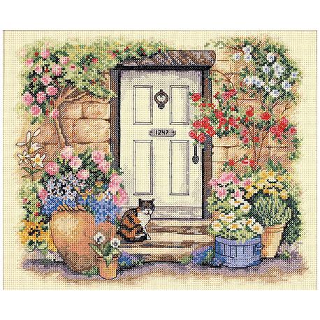 Набор для вышивания Dimensions 35233 Garden Door Kitty фото