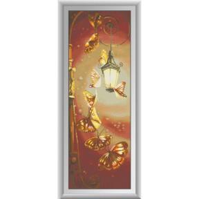 Набор для рисования камнями алмазная живопись Dream Art Танец  бабочек (квадратные, полная) 30307D