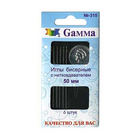 Иглы бисерные Гамма 315 с нитковдевателем фото