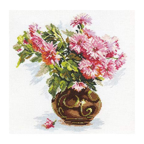 Набор для вышивки крестом Алиса 2-09 Цветущий сад. Хризантемки