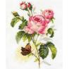 Набор для вышивки крестом Алиса 2-13 Роза и бабочка фото