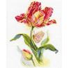 Набор для вышивки крестом Алиса 2-14 Тюльпан и бабочка фото