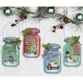 """Набор для вышивания  Dimensions 70-08964 """"Christmas Jar Ornaments/Рождественские баночки"""""""