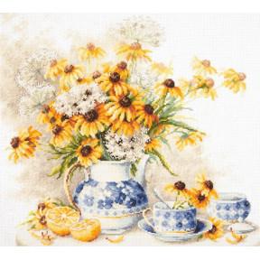 Набор для вышивки крестом Чудесная игла 50-08 Цветочный чай