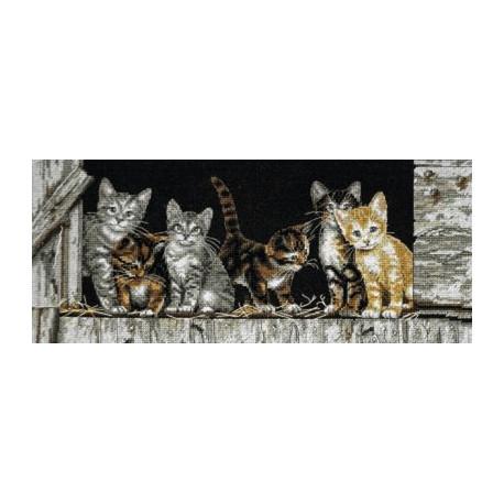 Набор для вышивания Dimensions 35133 Barnyard Kitties Cats фото