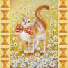 Схема для вышивания бисером Абрис Арт АС-039 Солнечный котенок