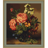 Набор для вышивки крестом Luca-S Ваза с розами и цветами B491