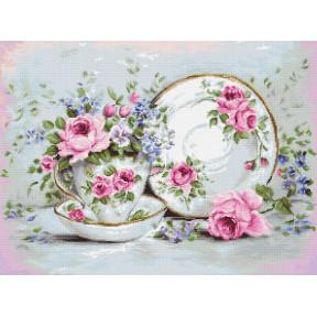 Набор для вышивки крестом Luca-S BA2318 Трио и цветы