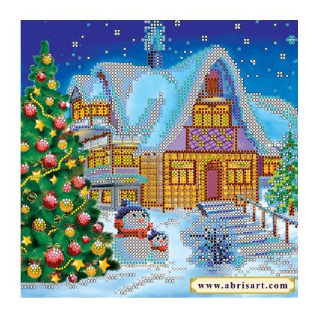 Схема для вышивания бисером Абрис Арт АС-053 Зимняя сказка фото