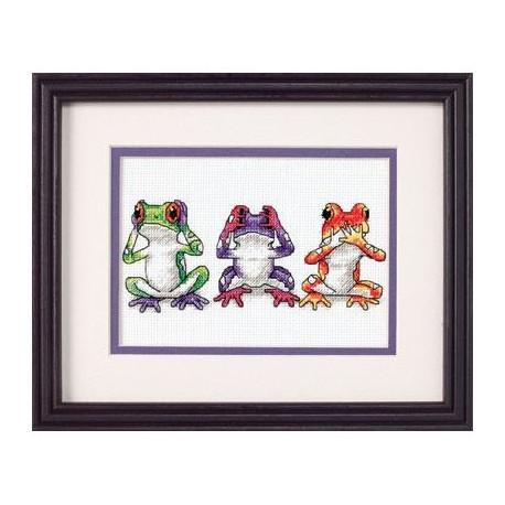 Набор для вышивания Dimensions 16758 Tree Frog Trio фото