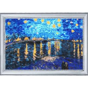 Набор для вышивания бисером Butterfly 365 Звездная ночь над Роной (по мотивам В. Ван Гога)